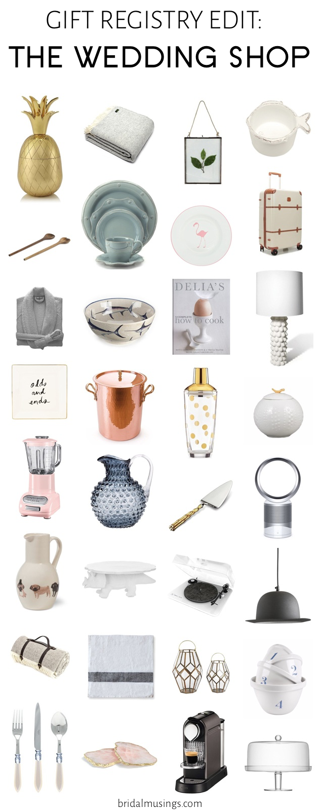 Gift Registry Edit The Wedding Shop Bridal Musings Wedding Blog