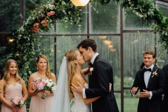 Elegant & Romantic Rainy Day Wedding