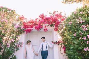 Colourful & Fun Destination Wedding in Greece