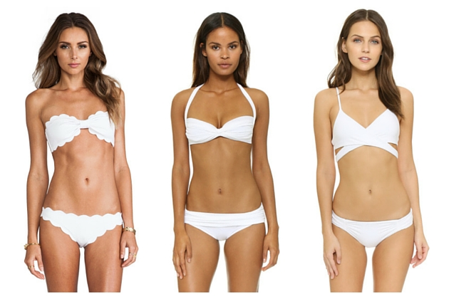 white bikinis for your honeymoon