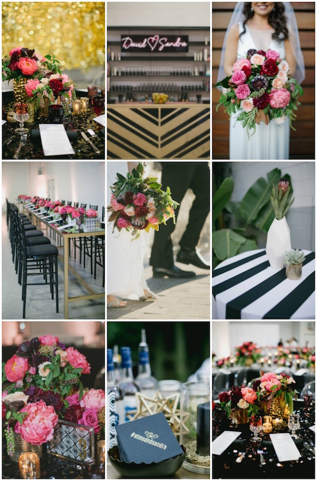 Black, White, Pink and Sparkle | Real Wedding | Aaron Young Photography | A Good Affair Wedding and Event Production | Bridal Musings Wedding Blog %0A
