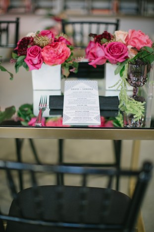 Black, White, Pink and Sparkle | Real Wedding | Aaron Young Photography | A Good Affair Wedding and Event Production | Bridal Musings Wedding Blog %0A 11