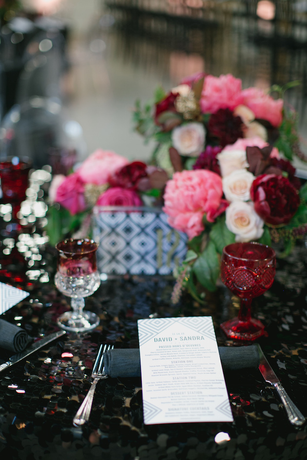 Black, White, Pink and Sparkle | Real Wedding | Aaron Young Photography | A Good Affair Wedding and Event Production | Bridal Musings Wedding Blog %0A 14