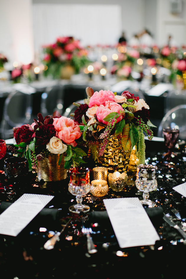 Black, White, Pink and Sparkle | Real Wedding | Aaron Young Photography | A Good Affair Wedding and Event Production | Bridal Musings Wedding Blog %0A 36