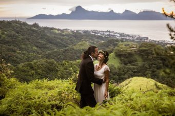 Unique Mountaintop Wedding in Tahiti