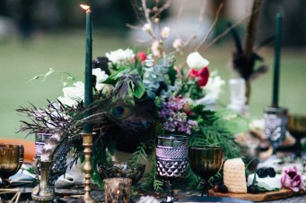 Luxuriously Moody Halloween Wedding Inspiration
